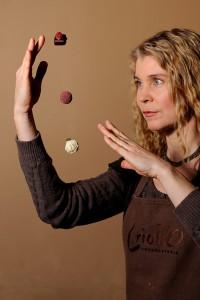 Birgitta trollar med choklad