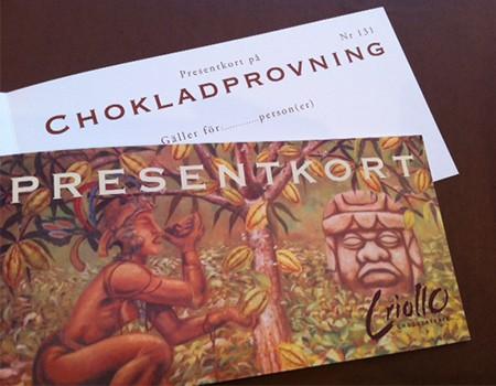 Presentkort Chokladprovning